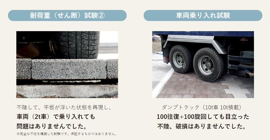 耐荷重のある舗装材